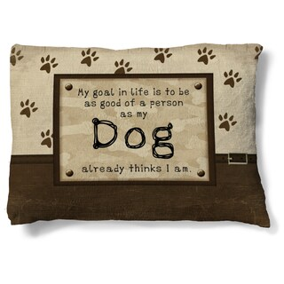 Laural Home My Dog's Opinion Fleece Dog Bed