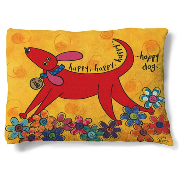 Laural Home Bright and Happy Fleece Dog Bed