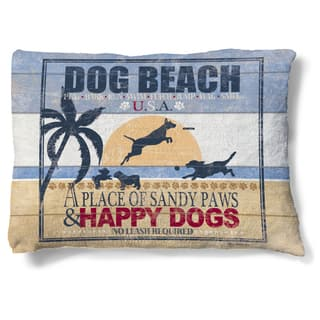 Laural Home Sandy Beach Dog Fleece Dog Bed|https://ak1.ostkcdn.com/images/products/11702003/P18625886.jpg?impolicy=medium
