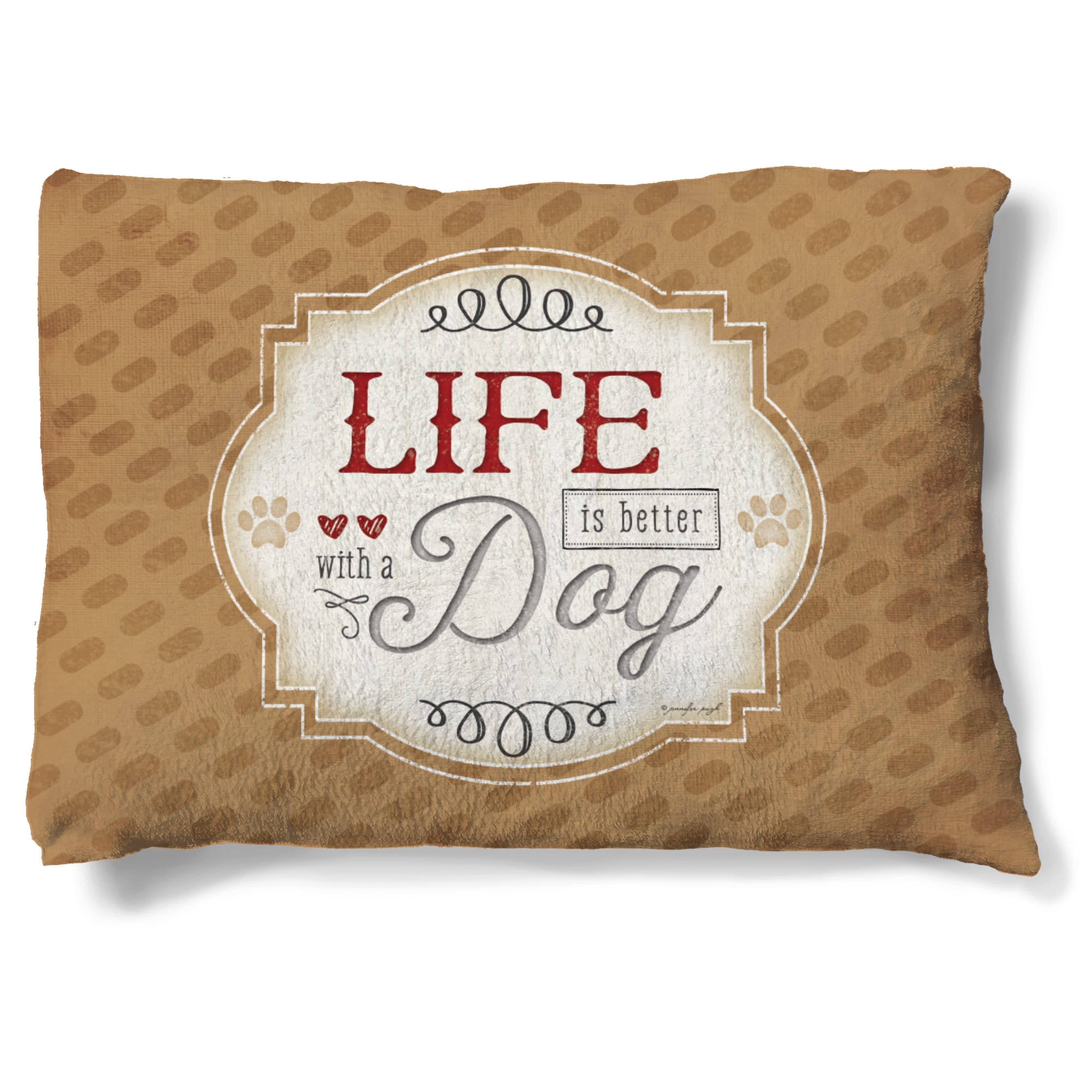 """Laural Home Life is Better with a Dog Fleece Dog Bed (30""""..."""