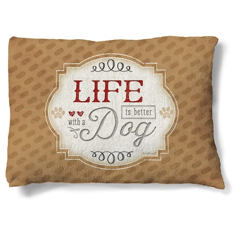 Laural Home Life is Better with a Dog Fleece Dog Bed