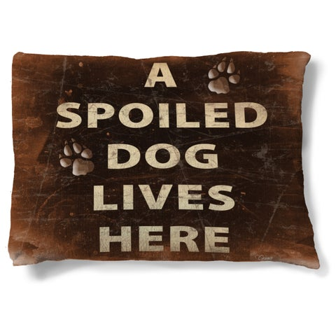 Laural Home A Spoiled Dog Lives Here Fleece Dog Bed