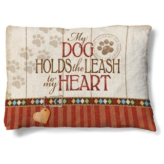 Laural Home My Dog Holds the Leash to my Heart Fleece Dog Bed