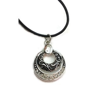 Mama Designs Handmade Leather cord charm necklace