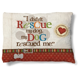 Laural Home My Rescue Dog Fleece Dog Bed
