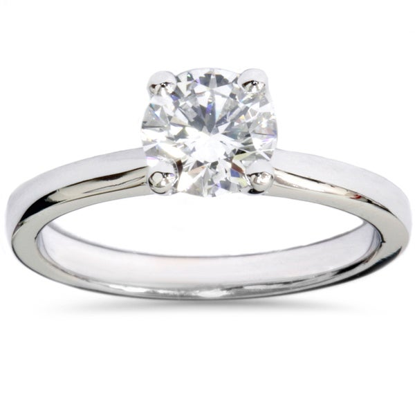 Shop 14k White Gold 1ct TDW Lab Grown Diamond Solitaire