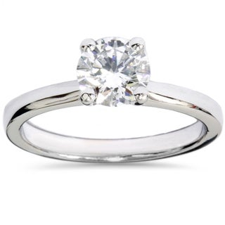 14k White Gold 1ct TDW Lab Grown Diamond Solitaire Engagement Ring