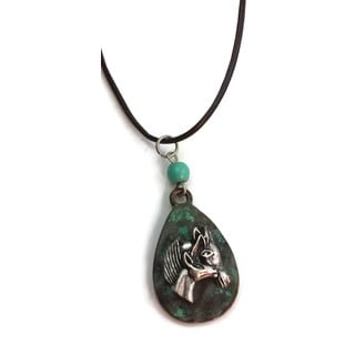 Mama Designs Handmade Patina Horse Western-style Necklace
