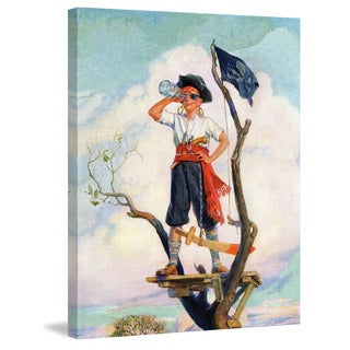 Marmont Hill 'Pirate' by Curtis Painting Print on Canvas - Multi-color
