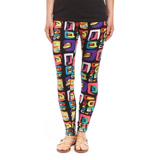 Women's Eclectic Colorful Squared Legging