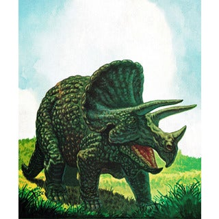 Marmont Hill 'Ceratopsian' by Curtis Painting Print on Canvas
