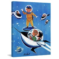 Marmont Hill 'Space Officer' by Curtis Painting Print on Canvas