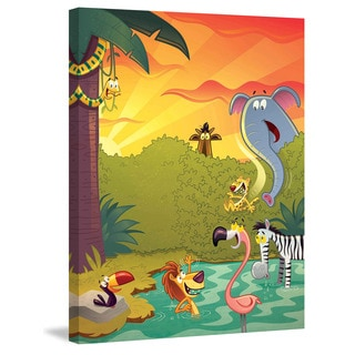 Marmont Hill 'Happy Jungle' by Curtis Painting Print on Canvas