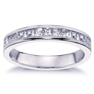 Platinum 3/4ct TDW Diamond Eternity Wedding Band