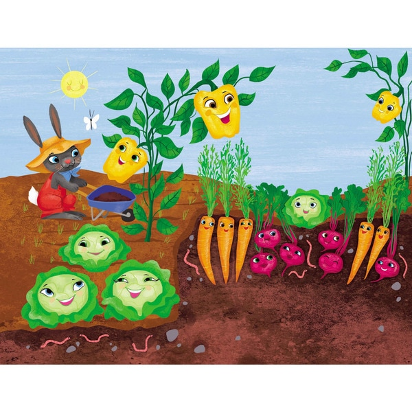 Marmont Hill 'Happy Garden' by Curtis Painting Print on Canvas - Multi-color