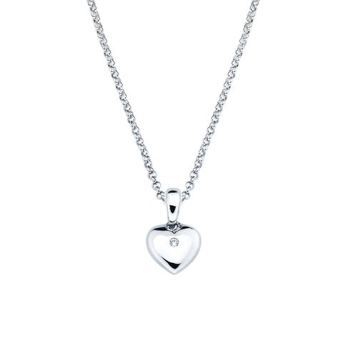 Little Diva Diamonds Girl's 925 Sterling Silver Simulated Birthstone Pendant w/ Chain (H-I, I1-I2)