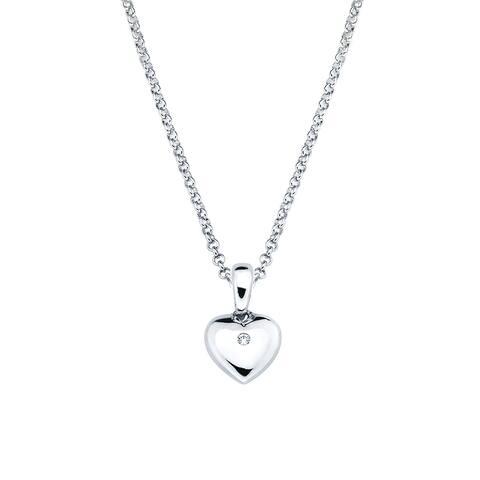 Little Diva Diamonds Girl's 925 Sterling Silver Simulated Birthstone Pendant w/ Chain (H-I, I1-I2)