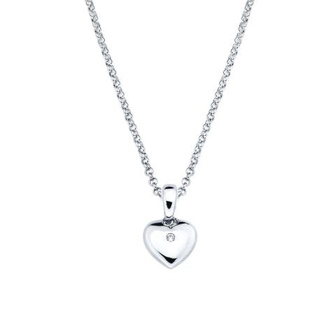 Little Diva Diamonds Sterling Silver Simulated Birthstone Pendant w/ Chain