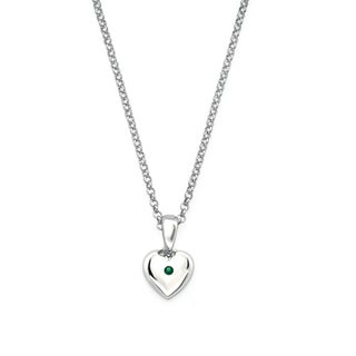Little Diva Diamonds Girl's 925 Sterling Silver Simulated Birthstone Pendant w/ Chain (H-I, I1-I2) (More options available)