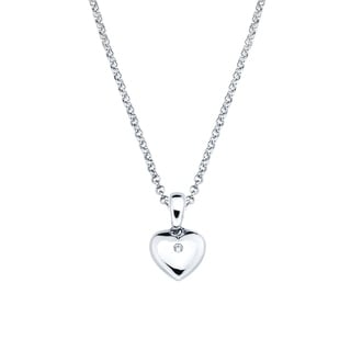 Little Diva Diamonds Girl's 925 Sterling Silver Simulated Birthstone Pendant w/ Chain (H-I, I1-I2) (Option: Gemstone)