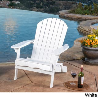 White Wooden Garden Furniture White wood patio furniture outdoor seating dining for less hanlee outdoor folding wood adirondack chair by christopher knight home option white workwithnaturefo