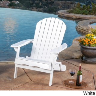 White patio furniture Grey Hanlee Outdoor Folding Wood Adirondack Chair By Christopher Knight Home Overstock White Patio Furniture Find Great Outdoor Seating Dining Deals