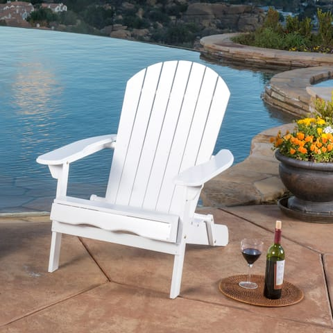Hanlee Outdoor Folding Wood Adirondack Chair by Christopher Knight Home