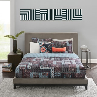 Josie by Natori Woodblock Patchwork Reversible Quilt Set