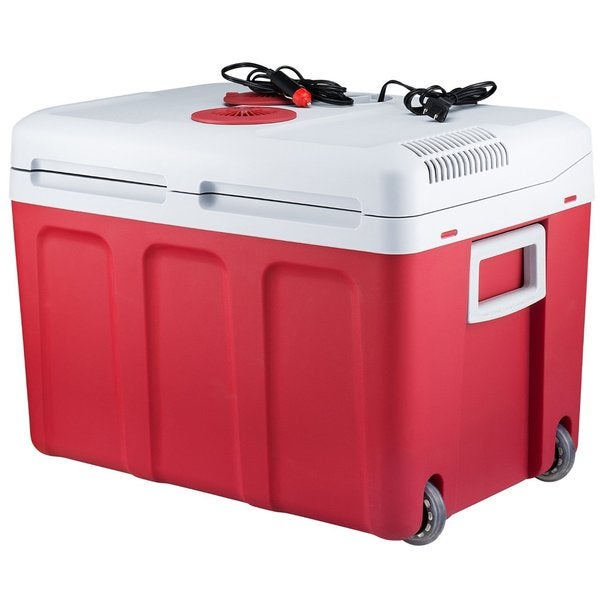 Knox 48-Quart Electric Cooler/Warmer with Built-in Car and Home Plug (Red)