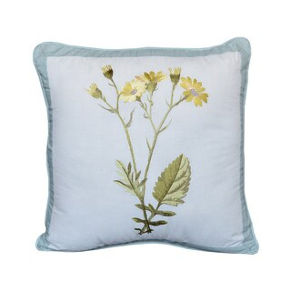 Nostalgia Home Josephine Square Yellow Flowers Decorative Pillow