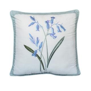 Nostalgia Home Josephine Square Blue Flowers Decorative Pillow