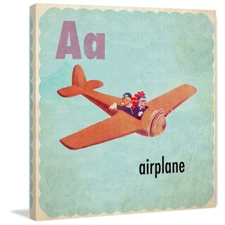 Marmont Hill 'Airplane' by Curtis Painting Print on Canvas - Multi-color