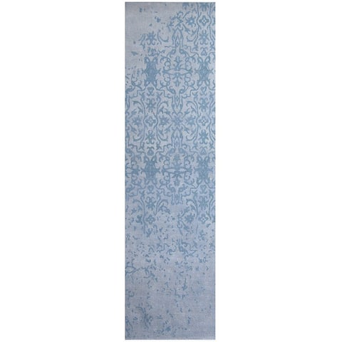 Handmade Printed Erased Khotan Runner (India) - 2'8 x 10'