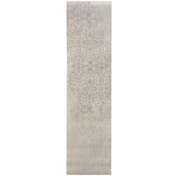 Herat Oriental Indo Hand-tufted Khotan Wool Runner (2'8 x 10')
