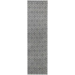 Herat Oriental Indo Hand-tufted Printed Khotan Wool Runner (2'8 x 10')