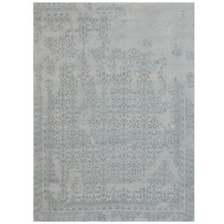 Herat Oriental Indo Hand-tufted Khotan Ivory/ Grey Wool Rug (8' x 10')