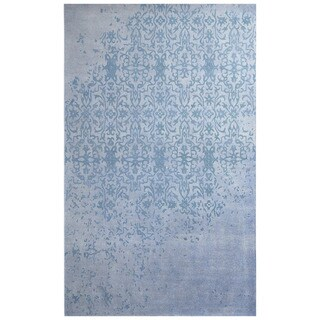 Herat Oriental Indo Hand-tufted Khotan Ivory/ Blue Wool Rug (7'6 x 9'6)