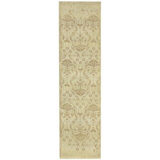 Herat Oriental Indo Hand-tufted Printed Erased Wool Runner (2'8 x 10')
