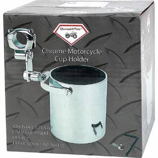Diamond Plate Chrome Motorcycle Cup Holder|https://ak1.ostkcdn.com/images/products/11702365/P18626204.jpg?impolicy=medium