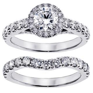 Platinum 3ct TDW Round Diamond Bridal Ring Set (G-H, SI1-SI2)