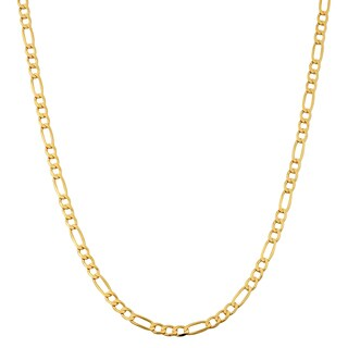 Fremada 10k Yellow Gold 3.3-mm High Polish Concave Figaro Link Chain Necklace (16 - 30 inches)