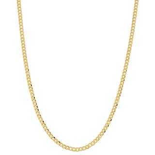Fremada 10k Yellow Gold 2.7-mm High Polish Curb Link Chain (16 - 30 inches)