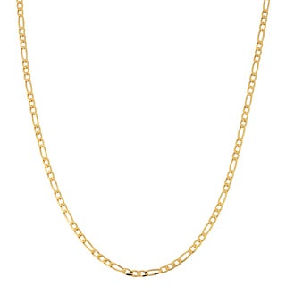 Fremada 10k Yellow Gold 2.3-mm High Polish Concave Figaro Link Chain Necklace (16 - 30 inches)