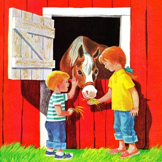 Marmont Hill 'Kids with Horse' by Curtis Painting Print on Canvas