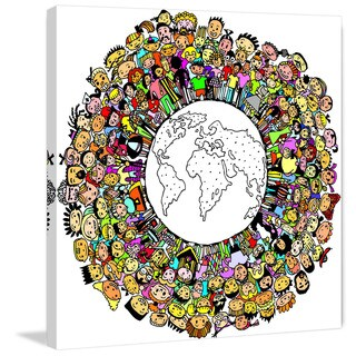 Marmont Hill 'Whole World' by Curtis Painting Print on Canvas - Multi-color