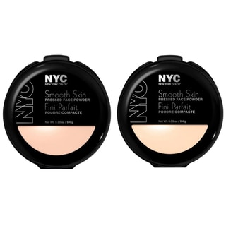 N.Y.C. Smooth Skin Pressed Face Powder Naturally Beige and Translucent Kit