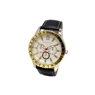 Geoffrey Beene Men's GB8049GDNVWT Navy Strap Goldtone Bezel Watch