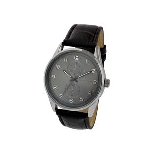 Geoffrey Beene Men's GB8065GUBK Black Strap Gunmetal Dial Watch