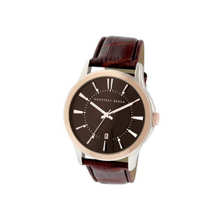 Geoffrey Beene Men's GB8070TTRBN Brown Strap Two-tone Case Watch