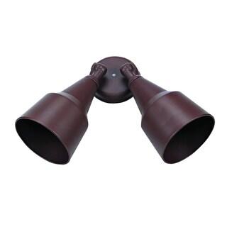 Outdoor Dark Brown 2-light Flood Light Fixture
